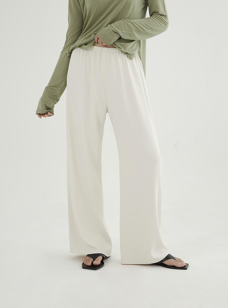 Wide Jersey Pants Cream